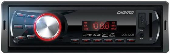 Автомагнитола Digma DCR-220R USB MP3 FM 1DIN 4x45Вт черный йога и образ тела йога практики смелость жить