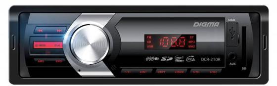 цена Автомагнитола Digma DCR-210R USB MP3 FM 1DIN 4x45Вт черный в интернет-магазинах
