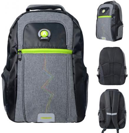Городской рюкзак с рельефной спинкой Action! AB11124 21 л черный серый рюкзак городской husky maker цвет черный 20 л