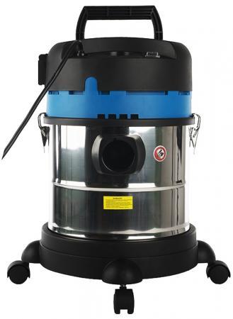 Промышленный пылесос СОЮЗ ПСС-7320 сухая влажная уборка синий чёрный серебристый