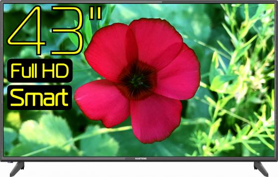 Телевизор LED 43 Hartens HTV-43F011B-T2/PVR/S черный 1920x1080 50 Гц VGA SCART RJ-45 ahd камера htv htv t5205ahd