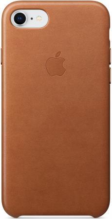 Накладка Apple Leather Case для iPhone 8 iPhone 7 коричневый MQH72ZM/A накладка apple leather case для iphone 8 iphone 7 платиново серый mqh62zm a