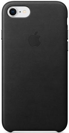 Накладка Apple Leather Case для iPhone 7 iPhone 8 чёрный MQH92ZM/A накладка apple leather case для iphone 8 iphone 7 платиново серый mqh62zm a