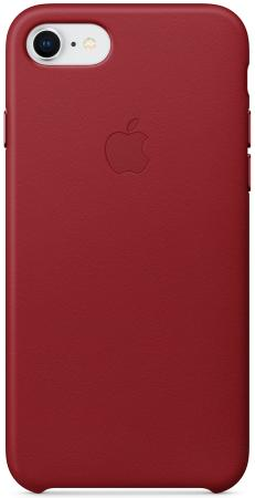 Накладка Apple Leather Case для iPhone 7 iPhone 8 красный MQHA2ZM/A чехол накладка apple leather case geranium для iphone 7 plus mq5h2zm a кожа красный