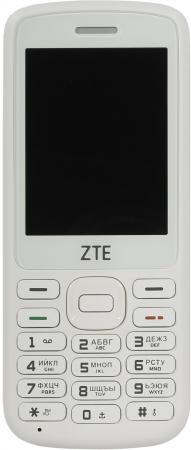 ZTE F327 White Мобильный телефон смартфон zte axon 7 золотистый