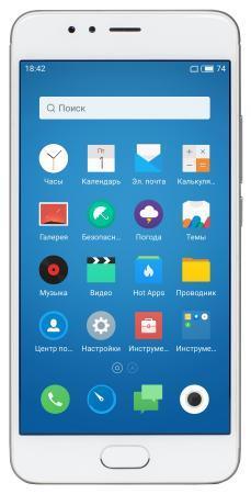 Смартфон Meizu M5s серебристый белый 5.2 16 Гб LTE Wi-Fi GPS 3G смартфон meizu m6 note золотистый 5 5 16 гб lte wi fi gps