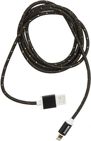 Кабель Lightning 1.5м Wiiix круглый CB110-U8-15B кабель переходник wiiix cb120 u8 10og usb 8pin оранжевый