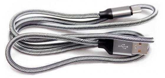 Кабель Type-C 1.5м Wiiix CB110-UTC-15S круглый серебристый кабели wiiix кабель переходник с кожаной оплеткой