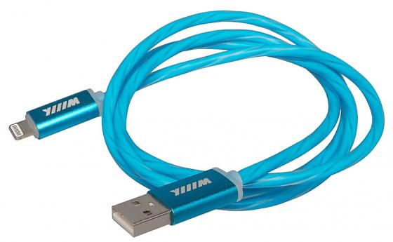Кабель Lightning 1м Wiiix CBL710-U8-10BU круглый кабель lightning 1м wiiix круглый cb120 u8 10b