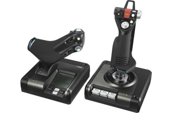 Контроллер игровой Logitech G X52 Professional H.O.T.A.S. джойстик и рычаг управления двигателем для авиа космических симуляторов 945-000003