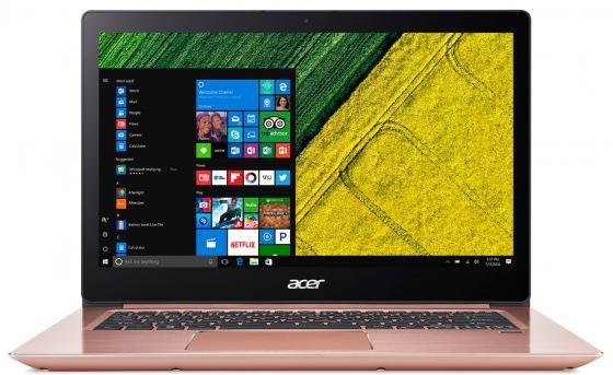 Ноутбук Acer Aspire Swift SF314-52G-8240 14 1920x1080 Intel Core i7-8550U 256 Gb 8Gb nVidia GeForce MX150 2048 Мб розовый Linux амортизаторы кони 8240 1215 в москве