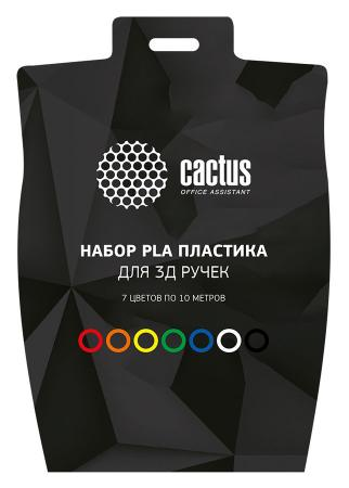 Пластик для ручки 3D Cactus PLA d1.75мм L10м 7цв. CS-3D-PLA-7X10M 2015 chinese pla 3d printer filament