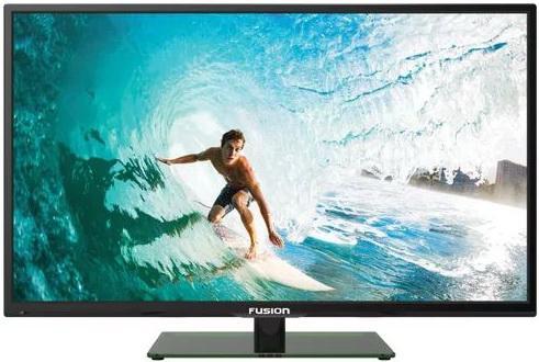 "Телевизор 24"" FUSION FLTV-24H100 черный 1366x768 50 Гц VGA HDMI USB YPbPr"