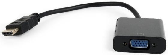 Фото - Переходник HDMI VGA 0.15м Gembird A-HDMI-VGA-04 круглый черный переходник vga kramer 92 1105025 круглый черный 7 6м
