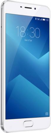 Телефон Meizu M5 Note серебристый белый 5.5 16 Гб LTE Wi-Fi GPS 3G смартфон asus zenfone live zb501kl золотистый 5 32 гб lte wi fi gps 3g 90ak0072 m00140