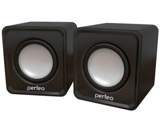 Колонки Perfeo Wave PF-128-B 2x3 Вт USB черный колонки cbr cms 660 2x3 вт черный