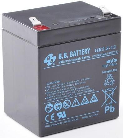 Батарея B.B. Battery HR5.8-12 5.8Ач 12B us eu free tax electric bike battery 36v 15ah water bottle 18650 li ion battery 36v 500w e bike kettle battery with charger bms