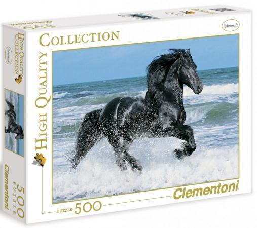 Пазл 500 элементов Clementoni Вороной конь в море 30175 clementoni пазл hq вороной конь в море 500