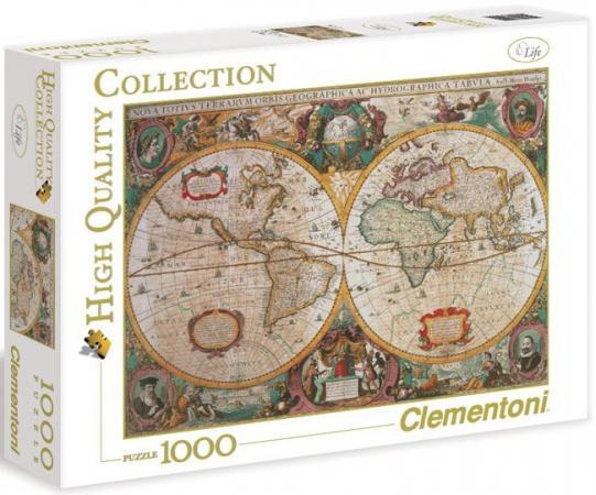 Пазл 1000 элементов Clementoni Древняя карта мира 31229 clementoni пазл hq древняя карта мира 1000