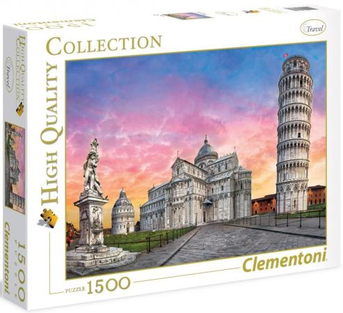 Пазл 1500 элементов Clementoni Пизанская башня 31674 пазл clementoni hq щенки лабрадора 1500 31976