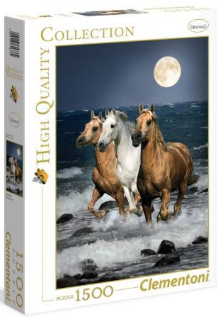 Пазл 1500 элементов Clementoni Дикие лошади 31676 clementoni пазл hq дикие лошади 1500