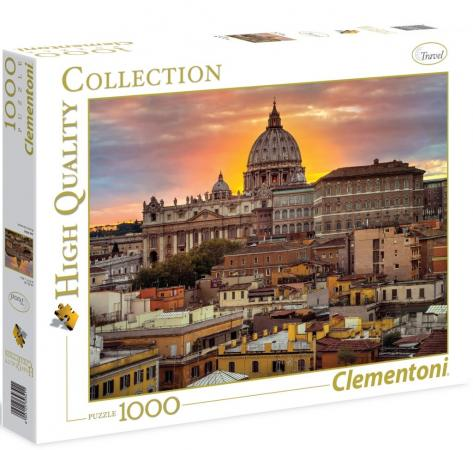 Пазл 1000 элементов Clementoni Вечерний Рим 39341 clementoni пазл hq вечерний рим 1000