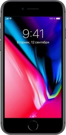 "Смартфон Apple iPhone 8 серый 4.7"" 256 Гб NFC LTE Wi-Fi GPS 3G MQ7C2RU/A"