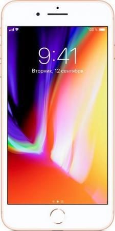 """Смартфон Apple iPhone 8 Plus золотистый 5.5"""" 256 Гб NFC LTE Wi-Fi GPS 3G MQ8R2RU/A"""