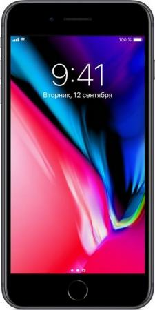 Смартфон Apple iPhone 8 Plus серый 5.5 64 Гб NFC LTE Wi-Fi GPS 3G MQ8L2RU/A смартфон bq aquaris u2 черный 5 2 16 гб nfc lte wi fi gps 3g c000291