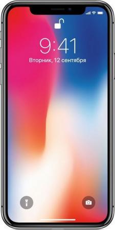 Смартфон Apple iPhone X серый 5.8 256 Гб NFC LTE Wi-Fi GPS 3G MQAF2RU/A iphone 3g 8 gb по очень низкой цене