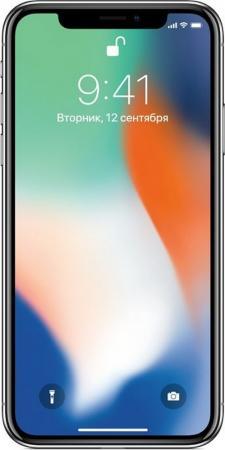 Смартфон Apple iPhone X серебристый 5.8 64 Гб NFC LTE Wi-Fi GPS 3G MQAD2RU/A смартфон apple iphone 6s розовое золото 4 7 32 гб wi fi gps 3g lte nfc mn122ru a