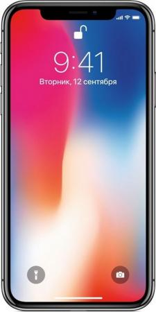 Смартфон Apple iPhone X серый 5.8 64 Гб NFC LTE Wi-Fi GPS 3G MQAC2RU/A смартфон apple iphone xr белый 6 1 64 гб nfc lte wi fi gps 3g