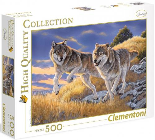 Пазл 500 элементов Clementoni Волки 35033 пазл clementoni hq щенки лабрадора 1500 31976