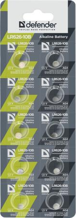 Батарейки Defender LR626-10B LR626 10 шт 56303 retro transparent sphere pendant chain necklace quartz watch bronze 80cm chain 1 x lr626