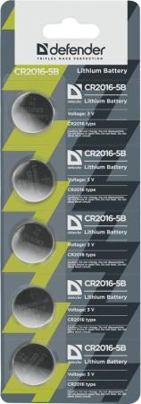 Батарейки Defender CR2016-5B CR2016 5 шт 56203 5x keychain magnifier with led illumination 2 cr2016
