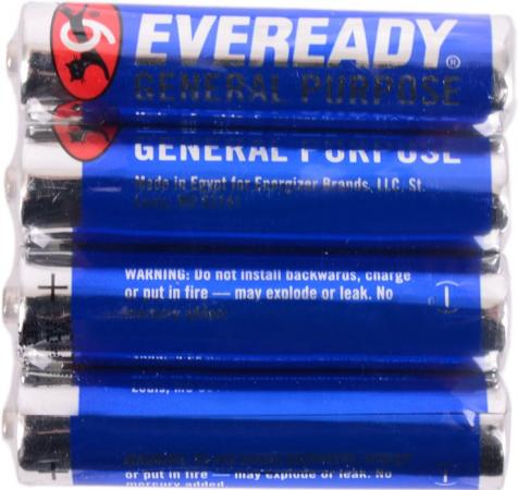 Батарейки Energizer Carbon Zinc Eveready 639609\E301012900 AAA 4 шт