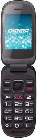 Фото Телефон Digma A200 черный 2.4 4 Мб сотовый телефон digma linx a177 2g