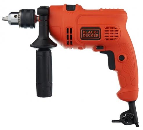 Ударная дрель Black & Decker KR504RE-XK 500Вт фрезер black and decker kw900e xk