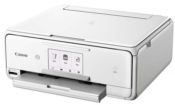 МФУ Canon PIXMA TS8040 цветное A4 15/10ppm 1200x2400 Wi-Fi USB белый 1369C027 мфу canon pixma mx494 цветное a4 9ppm 4800x1200 usb