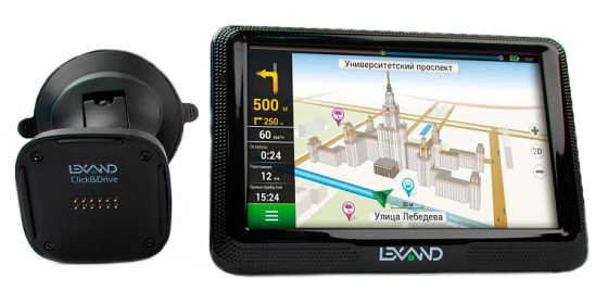 Навигатор LEXAND CD5 HD 5 800x480 microSD Bluetooth FM-трансмиттер черный Navitel new 7 inch hd car gps navigation fm bluetooth avin map free upgrade navitel europe sat nav truck gps navigators automobile