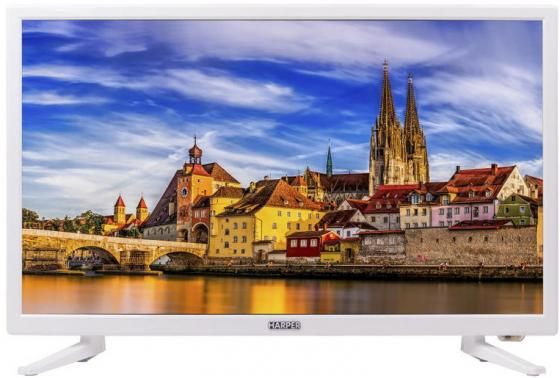 Телевизор LED 24 Harper 24R471T белый 1366x768 50 Гц HDMI VGA SCART YPbPr S/PDIF USB телевизор led 32 lg 32lx341c черный 1920x1080 50 гц scart vga s pdif usb