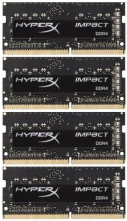 Оперативная память для ноутбука SO-DDR4 32Gb (4x8Gb) PC4-17000 2133MHz DDR4 DIMM CL14 Kingston HX421S14IB2K4/32 память ddr4 kingston kvr21r15s8k4 16 4х4gb dimm ecc reg pc4 17000 cl15 2133mhz