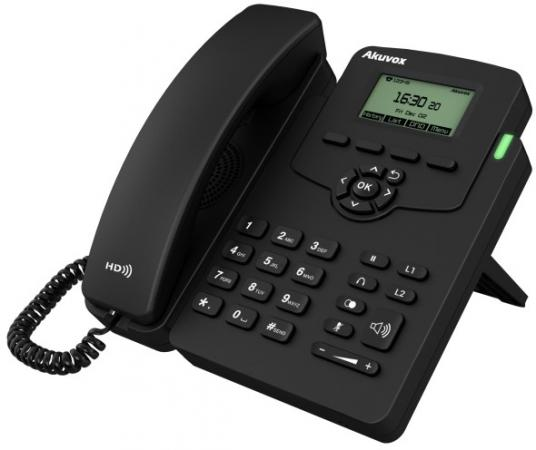 Телефон IP Akuvox SP-R50P 1 SIP-аккаунт 2x10/100Mbps 2.3 LCD PoE