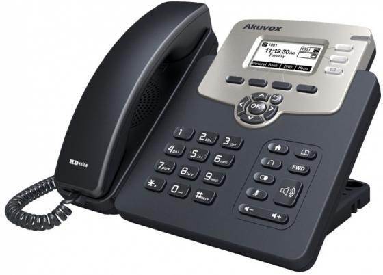 Фото Телефон IP Akuvox SP-R52P 2 SIP-аккаунта 2x10/100Mbps 2.3 LCD PoE телефон ip fanvil x4 4 линии 2x10 100mbps цветной lcd poe