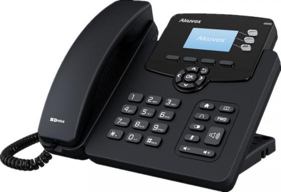 """Купить со скидкой Телефон IP Akuvox SP-R55P 3 SIP-аккаунта 2x10/100Mbps 2.3"""" LCD PoE"""