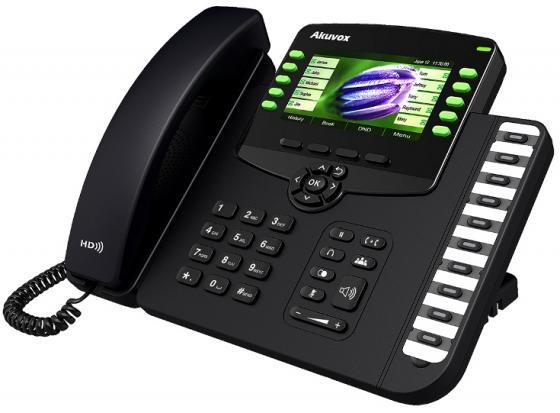 Телефон IP Akuvox SP-R67G 6 SIP-аккаунта 2x10/100/1000Mbps 4.3 LCD цветной PoE телефон ip yealink sip t42s 12 sip аккаунтов 2x10 100 1000mbps 2 7 lcd poe blf bla