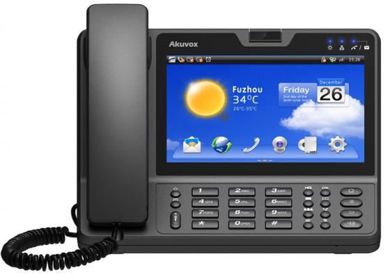 """Купить со скидкой Телефон IP Akuvox VP-R47G 6 SIP-аккаунта 2x10/100/1000Mbps 7"""" сенсорный LCD цветной PoE cam 2mp"""