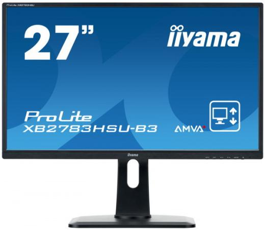 Монитор 27 iiYama XB2783HSU-B3 черный A-MVA 1920x1080 300 cd/m^2 4 ms DisplayPort HDMI USB Аудио VGA монитор 27 benq ew2775zh черный a mva 1920x1080 300 cd m^2 4 ms g t g hdmi vga аудио