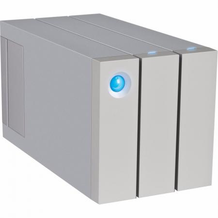 Внешний жесткий диск 3.5 USB3.0 12Tb Lacie 2big Thunderbolt2 STEY12000400 серебристый внешний hdd lacie 2big quadra 12tb stgl12000400