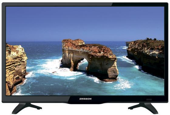 "Телевизор 24"" Erisson 24 LEA 20 T2 SM черный 1366x768 50 Гц Wi-Fi HDMI SCART RJ-45"